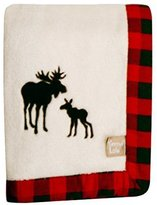 Trend Lab Northwoods Framed Receiving Blanket, Moose Applique by