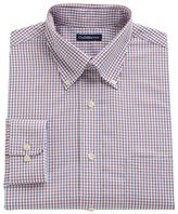 Croft & Barrow Big & Tall Fitted Grand Tattersall Plaid Easy-Care Button-Down Collar Dress Shirt