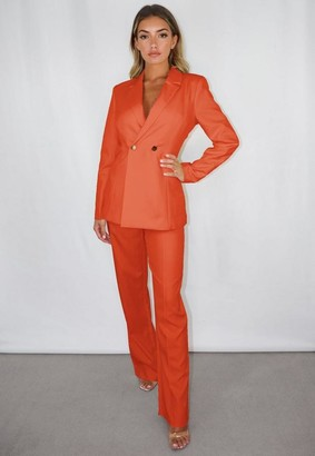 Missguided Tall Orange Skinny Fit Blazer
