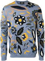 Fendi floral patterned sweater - men - Cotton - 48