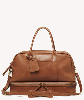 Sole Society Women's Mason Weekender Vegan Leather In Color: Cognac2 Bag From