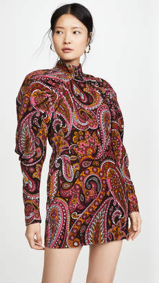 ROTATE Number 1 Paisley Velvet Dress