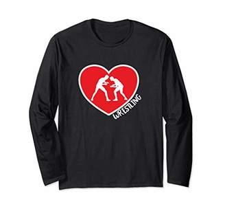 I Love Wrestling Heart Combat Catch Sports Wrestling Long Sleeve T-Shirt