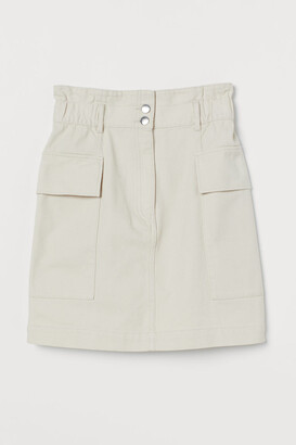H&M Utility Skirt - White