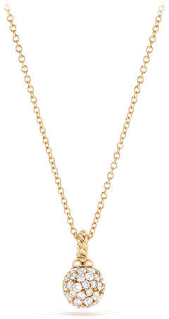 David Yurman 6mm Solari Pave Diamond Pendant Necklace