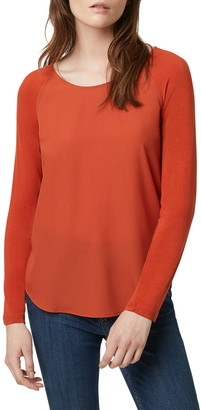 French Connection Crepe Light Raglan Sleeve Top