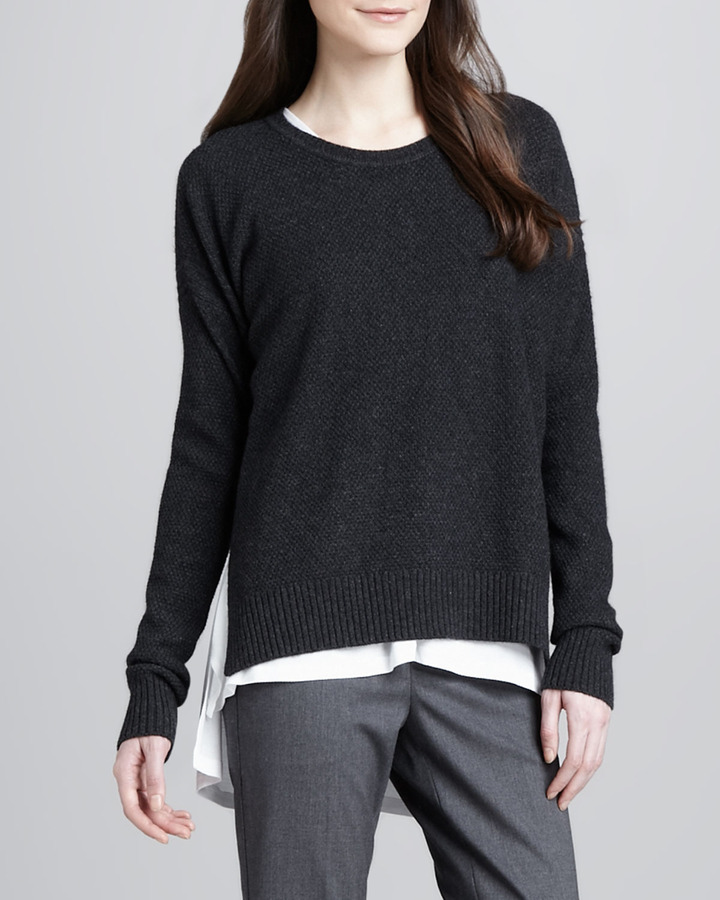 Vince Split-Side Knit Sweater