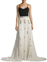 Haute Hippie Fernweh Beaded Silk Skirt, Antique
