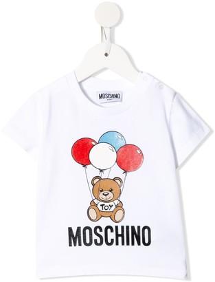 MOSCHINO BAMBINO teddy print T-shirt