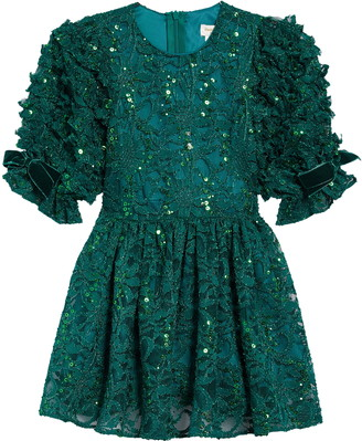 David Charles Sparkle Lace Dress