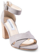 Steve Madden Flawless Faux Suede Stacked-Heel Sandals