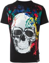 Philipp Plein painted skull print T-shirt