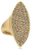 Pilgrim Jewelry Women's Ring Brass Crystal Glass White Large Big rings 271342004
