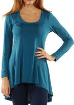 24/7 Comfort Apparel High-Low Tunic Top