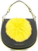 Orciani pompom saddle shoulder bag