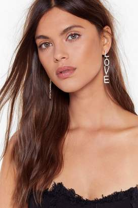 Nasty Gal Womens We Kinda Love Ya Diamante Drop Earrings - grey - One Size