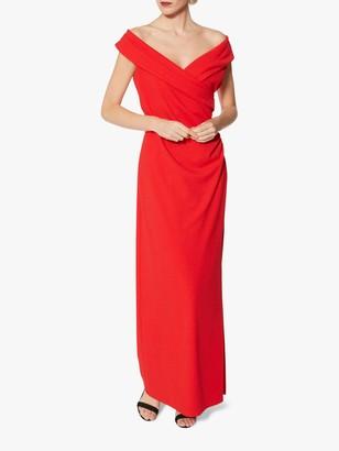 Gina Bacconi Leandra Crepe Maxi Dress, Red