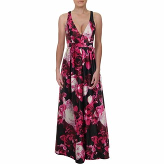 Jump Junior's Floral Printed Halter Gown