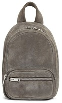 Alexander Wang Mini Attica Leather Crossbody Backpack - Grey