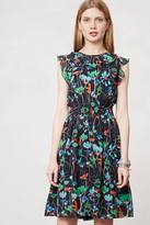 Anthropologie Floral Flutter Dress