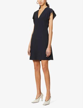 Stella McCartney Cady V-neck crepe mini dress