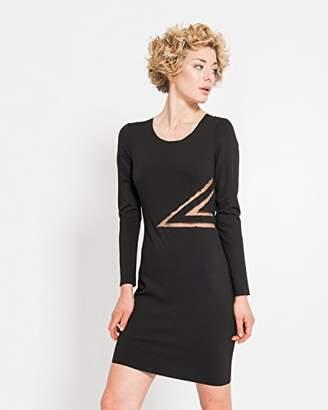 Silvian Heach Women's Larcara Body Con Long Sleeve Dress,12 (Manufacturer Size:Medium)