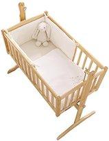 Clair De Lune Starburst 2 Piece Crib Quilt & Bumper Bedding Set, Cream by