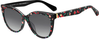 Kate Spade Daeshas Round Polarized Acetate Sunglasses, Black