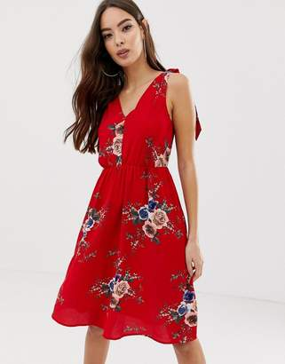 AX Paris strappy floral dress-Red