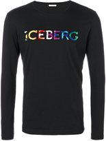 Iceberg rainbow colour logo T-shirt
