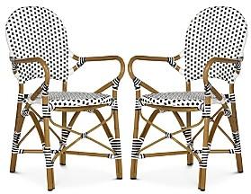 Safavieh Hooper Indoor-Outdoor Stacking Arm Chair, Set of Two