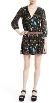 Alice + Olivia Women's Jolene Embroidered Blouson Dress