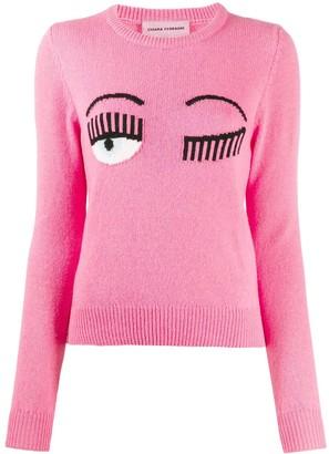 Chiara Ferragni Flirting intarsia-knit logo jumper