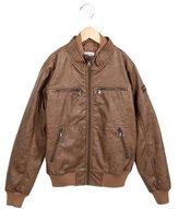 Kids Brown Leather Jacket - ShopStyle