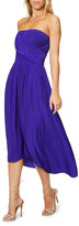 Ramy Brook Ava Strapless Smocked Midi Dress