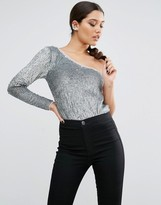 Asos NIGHT Body With One Shoulder In Sequin Embellishment
