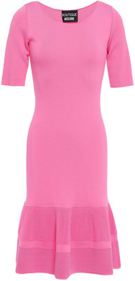 Boutique Moschino Fluted Knitted Dress