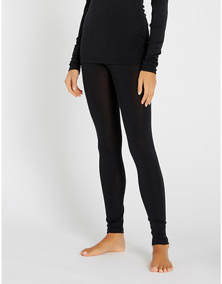 Hanro Skinny wool and silk-blend leggings