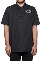 HUF Men's Station Short Sleeve Work Shirt