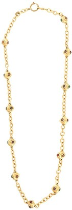 Chanel Pre Owned Stone Embellished Spheres Necklace