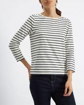 Jaeger Classic Breton Stripe Top