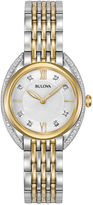 Bulova Womens Two Tone Bracelet Watch-98r229