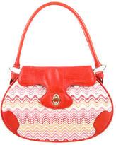 Missoni Embossed Leather-Accented Shoulder Bag