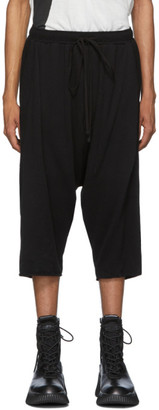 Julius Black Cropped French Terry Lounge Pants