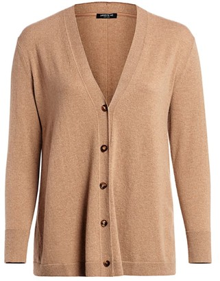 Lafayette 148 New York, Plus Size A-Line Cashmere Cardigan Sweater