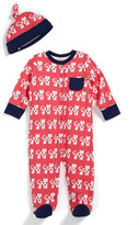 Offspring Cat Footie & Hat (Baby Girls)