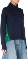 Sacai Turtleneck Sweater w/Bandana-Print Back