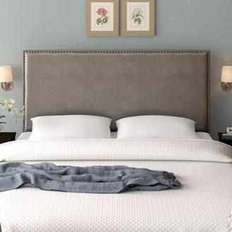Three Posts Immingham Upholstered Panel Headboard Size: Full / Queen, Upholstery: Dark Grey