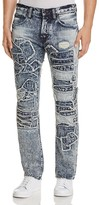 PRPS Goods & Co. PS4 Patchwork Slim Fit Jeans in Indigo