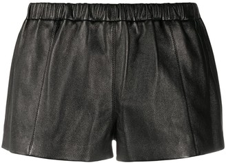 Saint Laurent Leather Short Shorts